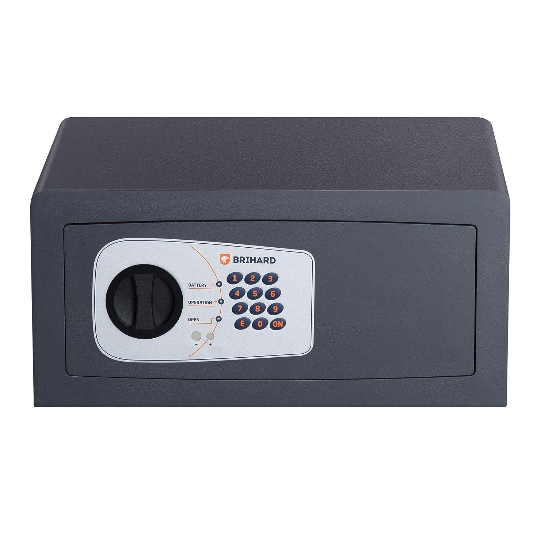 Brihard Protector P35E Caja fuerte Electrónica Blindada 20x43x35cm (HxWxD), Gris Titanio: Amazon.es: Bricolaje y herramientas