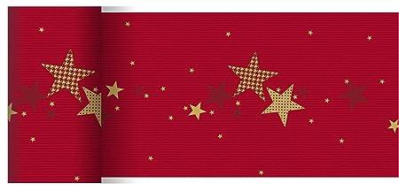 Duni - Camino de Mesa (Papel, 15 cm x 20 m), Color Rojo y Dorado ...