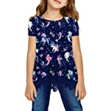 storeofbaby Girls Casual Tunic Tops Long Sleeve Loose Soft Blouse T-Shirt for 4-13 Years