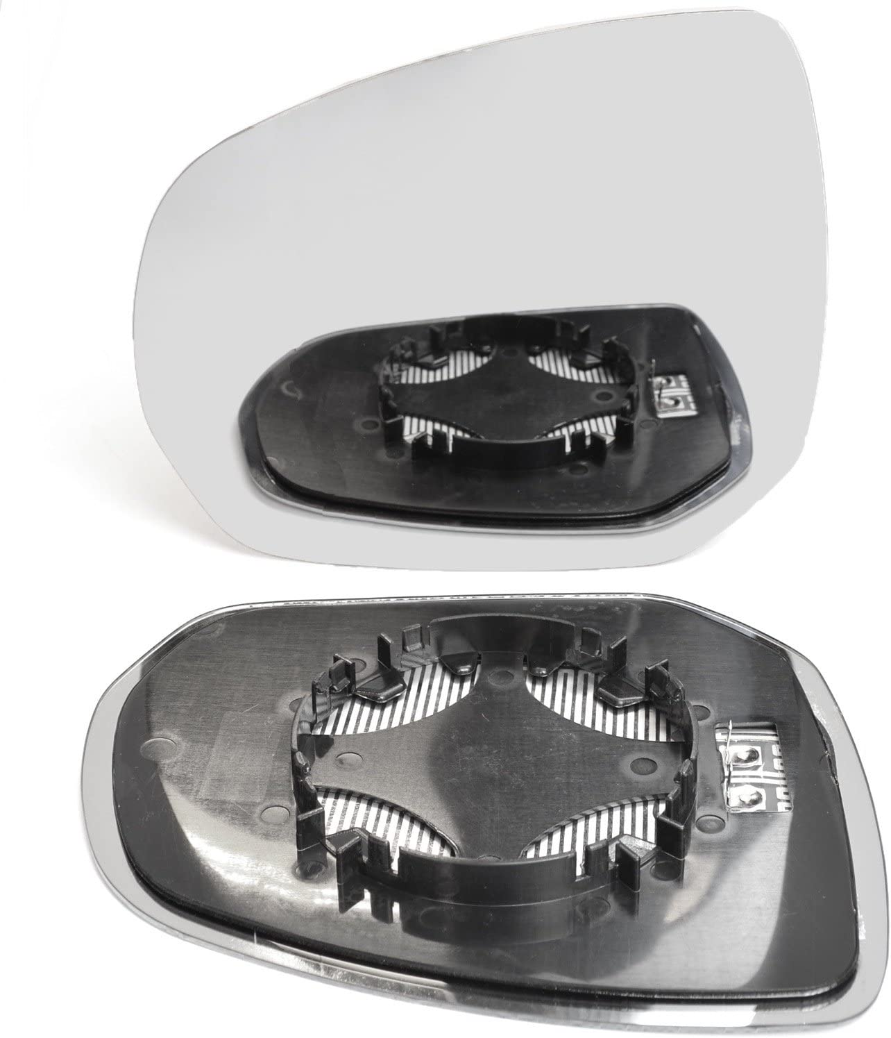 Left passegner side wing door clip on mirror glass for Citroen C3 Picasso 2004-2009 Heated