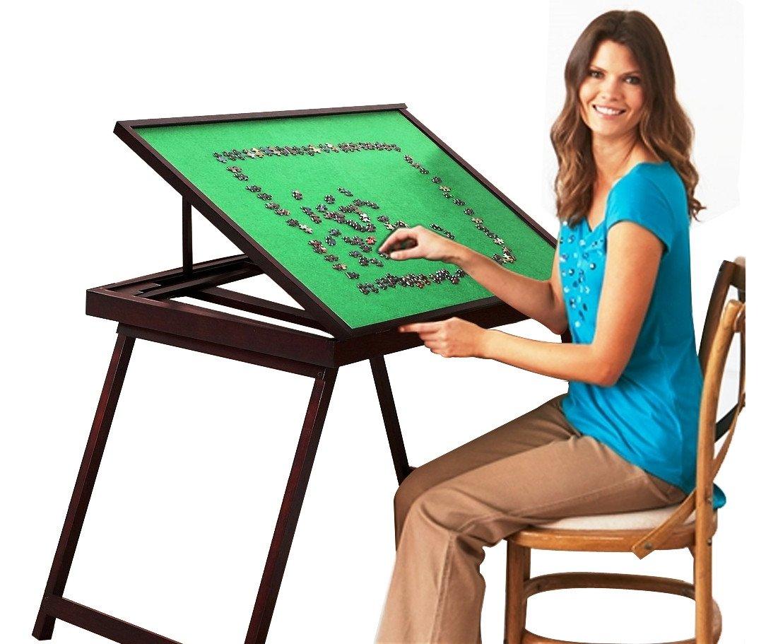 Jigsaw Puzzle Storage Table Folding Wooden Tilting Table1500 Pcs Mat PTT