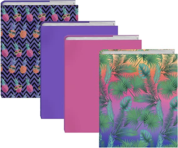 Our Nylon Fabric Protector Set is A Needed School Supply for Students Washable and Reusable Stretchable Book Cover Design Packs 6 Pack, Prints Ultra Fits Most Hardcover Textbooks up to 9 x 11