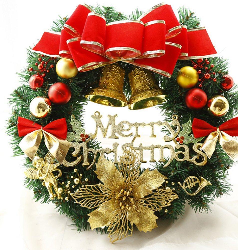 Chytaii Couronne Avec Clochette Boule Noel Decoration Suspendue