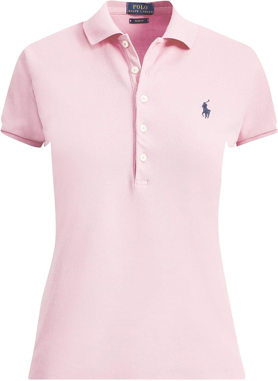 Ralph Lauren - Polo para mujer, ajustado, color rosa Country Club Pink S: Amazon.es: Ropa y accesorios