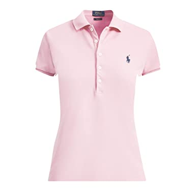wholesale dealer 7ccc5 53d52 Ralph Lauren Polo Damen Kurzarm Stretch Poloshirt Rosa (M ...