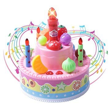 Record And Playback 46quot Musical Birthday Cake Toy With Light Up Candle Song