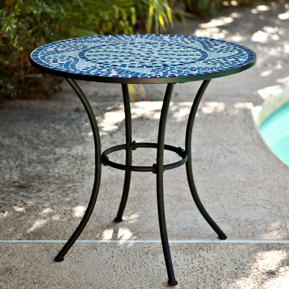 Amazon Coral Coast Marina Mosaic Bistro Table 30W X 30D 28H In Patio Lawn Garden