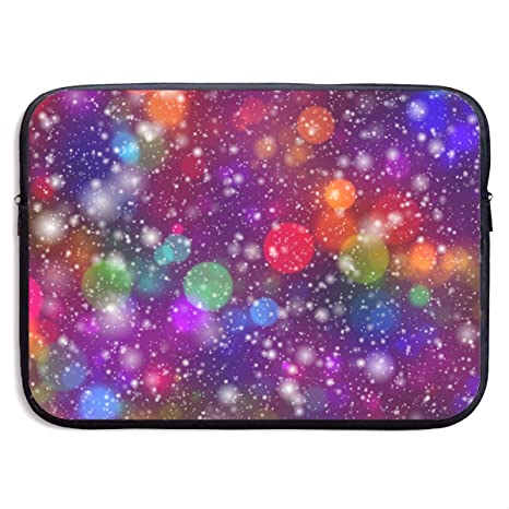37b3d67b Amazon.com: Neon Bubble and Snowflake Twinkle Water Repellent Laptop Sleeve  Bag Neoprene Briefcase for Unisex 13 and 15 Inch for Acer Laptops:  Computers & ...