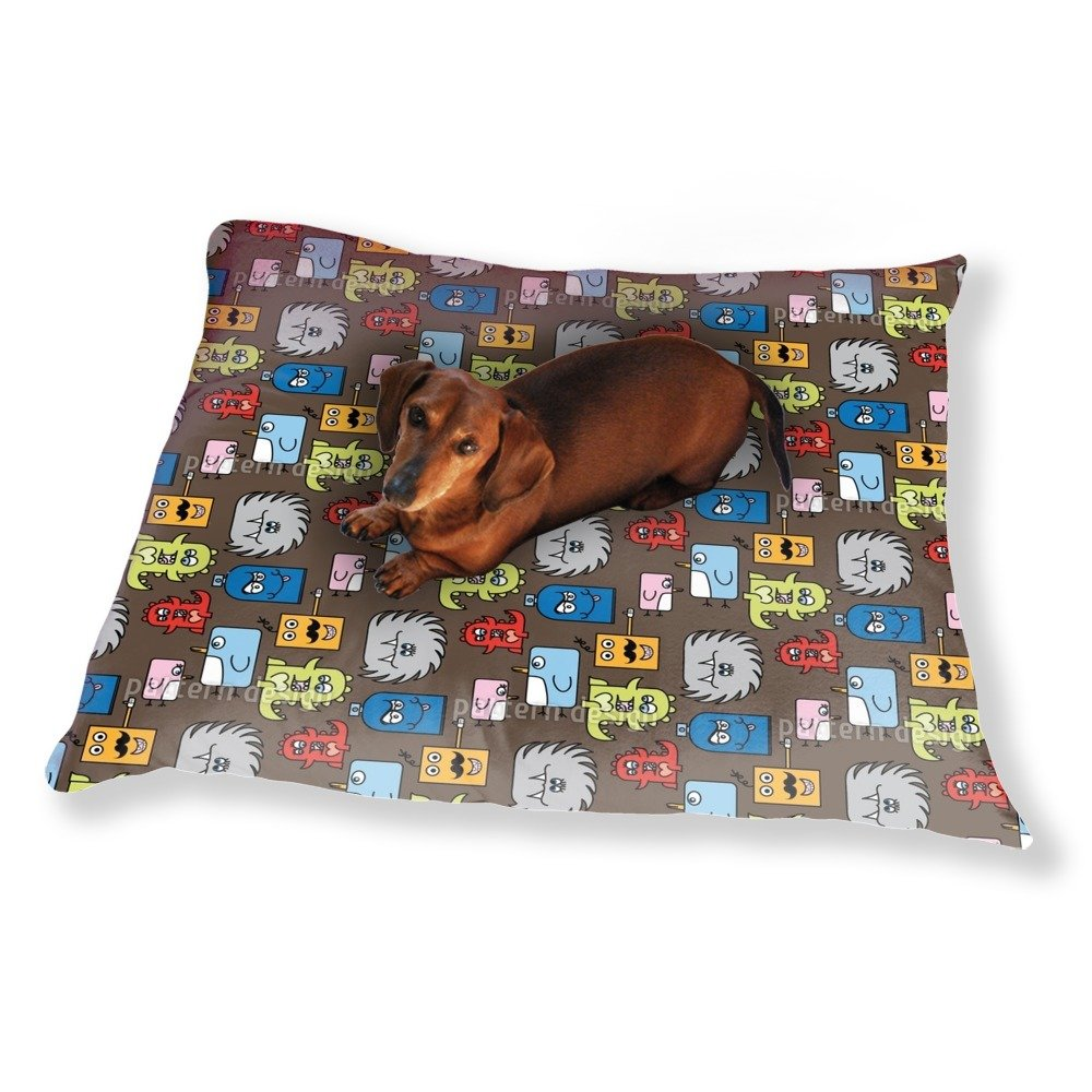 Colorful Monsters Dog Pillow Luxury Dog / Cat Pet Bed by uneekee (Image #1)