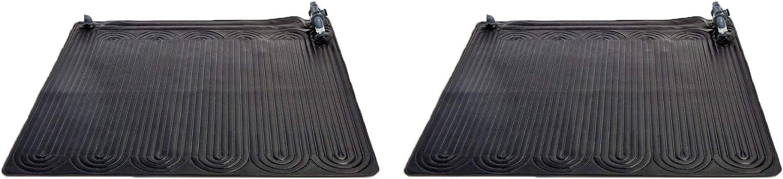 Intex 28685E Above Ground Swimming Pool Water Heater Solar Mat, Black (2 Pack)