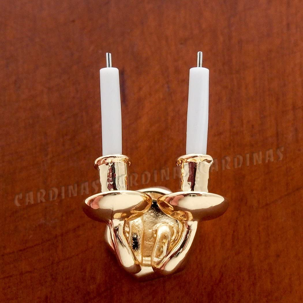 Miniature Pair of Fancy Antique Gold Wall Brackets #1 DOLLHOUSE 1:12 Scale
