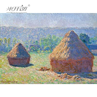 kkxka Wooden Jigsaw Puzzles Claude Monet Master Haystack Painting Art Educational Toy Decor(1000 Pieces): Toys & Games