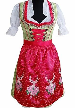 3210a63babd1c7 Rose Trachten RT440 Dirndl 3 tlg.Trachtenkleid Kleid, Bluse, Schürze, Größe: