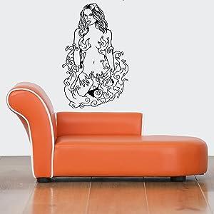 STICKERSFORLIFE Wall Decor Vinyl Sticker Room Decal Art Tattoo Hot Mermaid Sexy Woman Girl 642