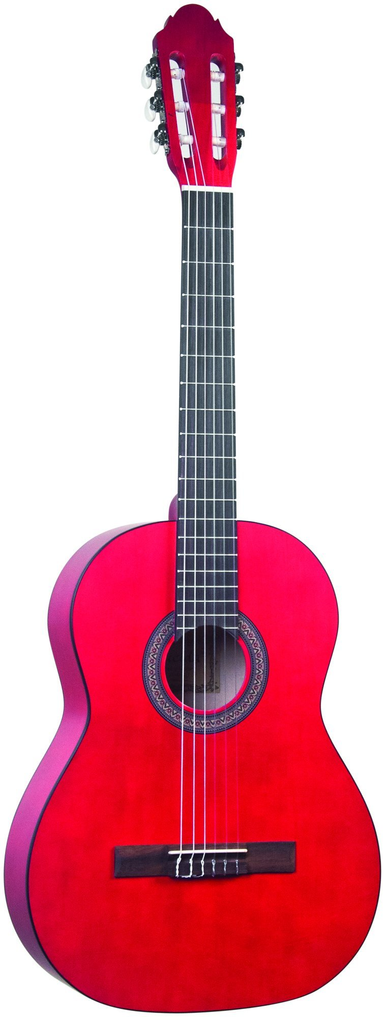 Lucida LG-400-3/4RD Student Classical Guitar, Red, 3/4 Size