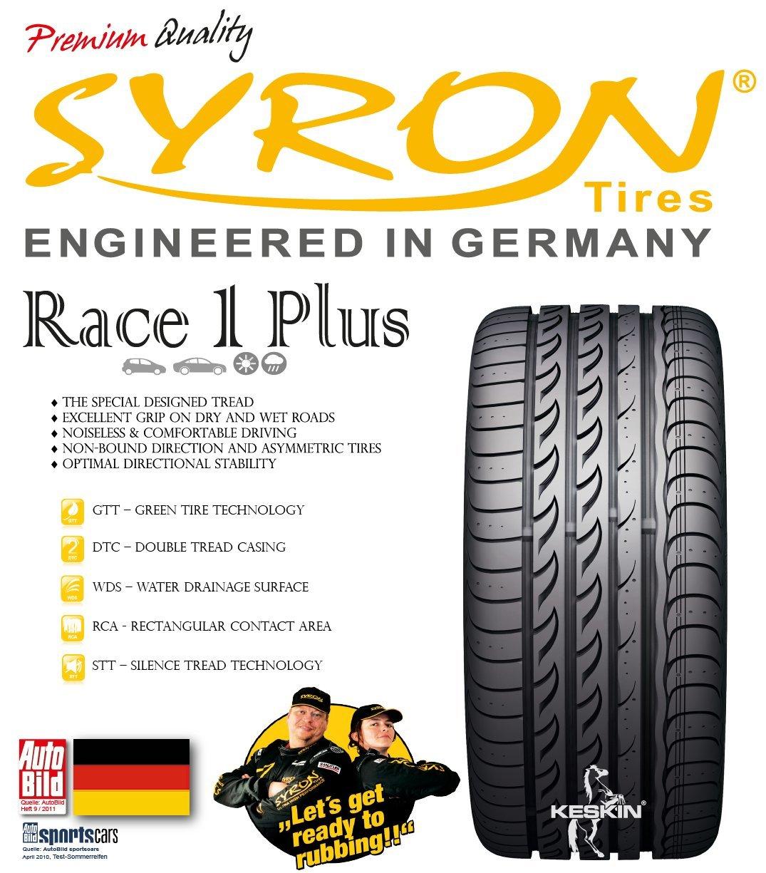 Kraftstoffeffizienz E; Nasshaftung C; Externes Rollger/äusch 3 Syron Syron Race 1 235//45 ZR17 97W XL Sommerreifen 73 dB