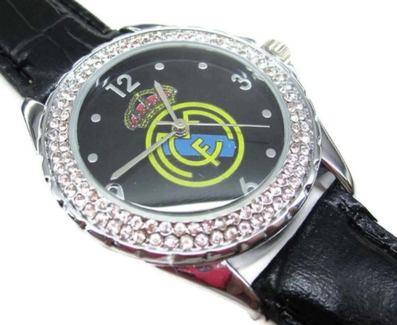 Reloj de pulsera de la Mujer Wrist Watches ESS009 Wristwatch Real Madrid Diamond Crystal inlay Watch: Amazon.es: Relojes