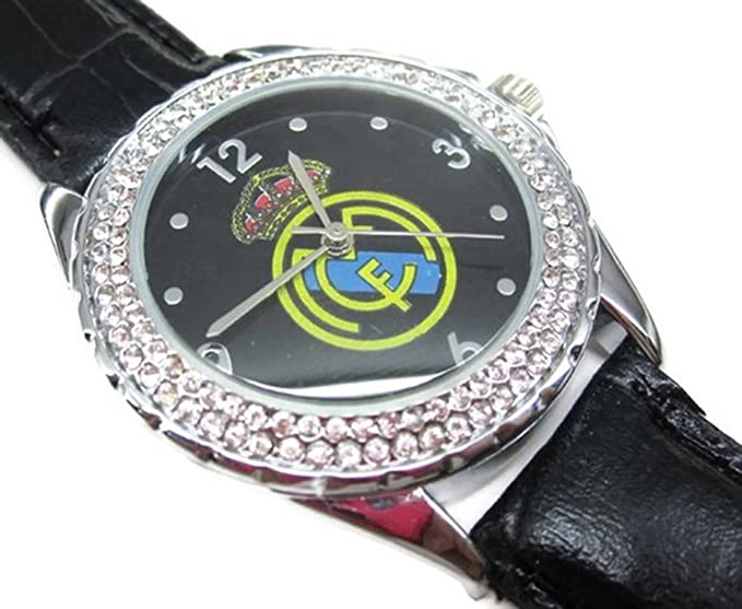 Reloj de pulsera de la Mujer Wrist Watches ESS009 Wristwatch Real Madrid Diamond Crystal inlay Watch: Amazon.es: Relojes