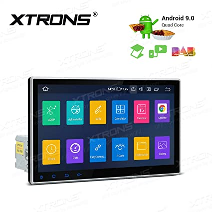 XTRONS Android 9 0 Car Stereo Radio GPS Navigator 10 1 Inch Touch Display  Rotatable Face Panel Head Unit Supports Car Auto Play Bluetooth 5 0 WiFi