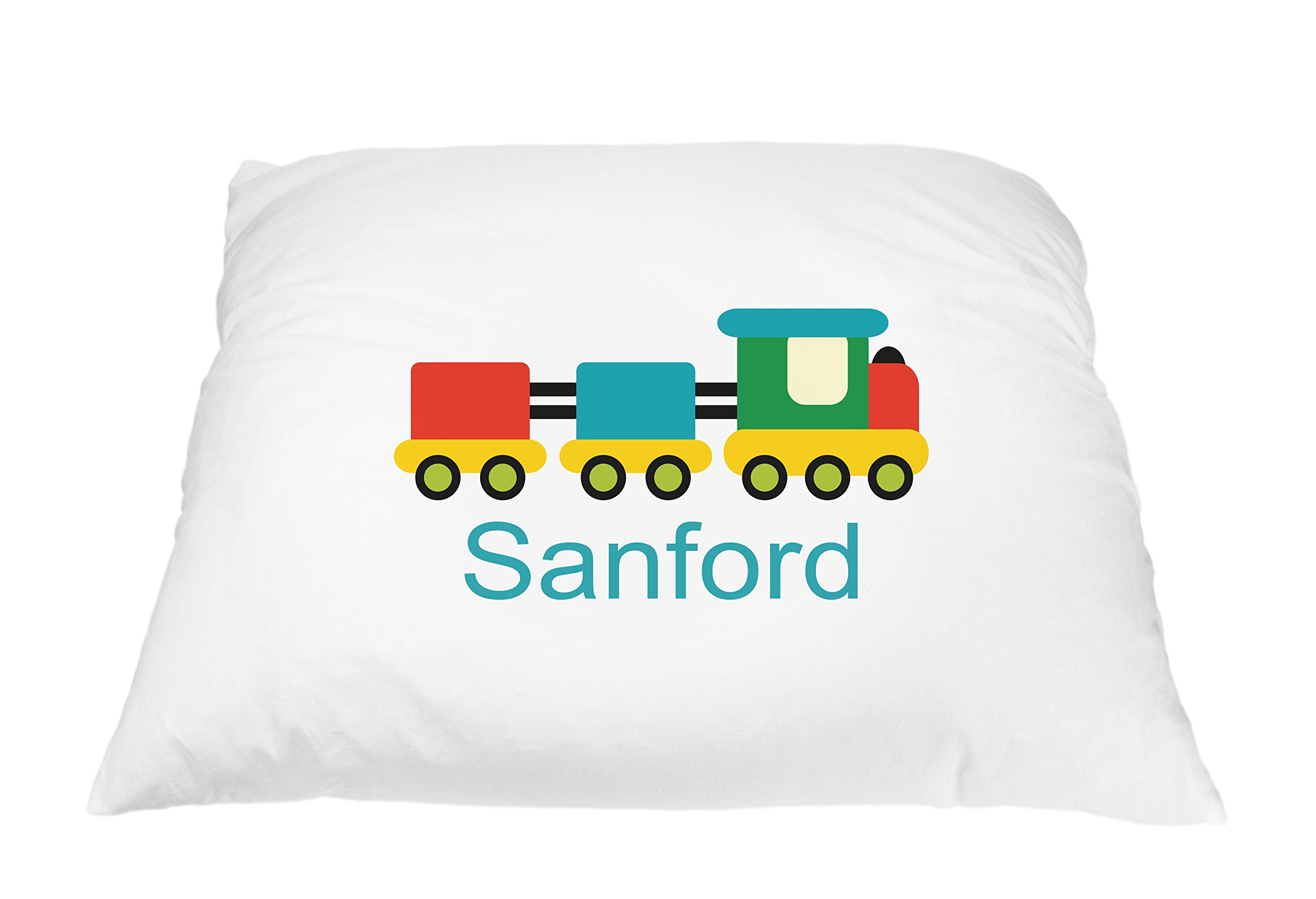 Personalized Kid's Fun Train Pillowcase Microfiber Polyester Standard 20 by 30 Inches, Custom Pillowcase, Kids Pillowcase, Boy and Girl Pillowcase, Train Bedding Choo Choo Train