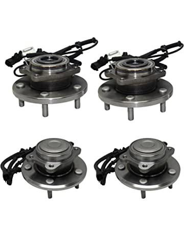 Detroit Axle - Front Wheel Bearing and Rear Hub Assembly Set for 2008 2009 2010 2011