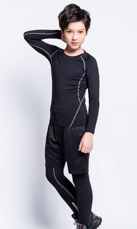 EU Boys Basketball Base Layer Moisture Wicking Compression Activewear Sports Sets