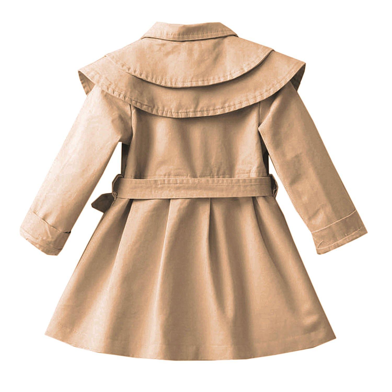 a1e2518732 CHIC-CHIC Mädchen Mantel Jacke Prinzessin Trenchcoat Prinzessin  Kinderjacken kleidung Outerwear Frühling Herbst Sweatjacke: Amazon.de:  Bekleidung