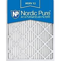 Nordic Pure 20x25x1 AC Furnace Air Filters MERV 12, Box of 6