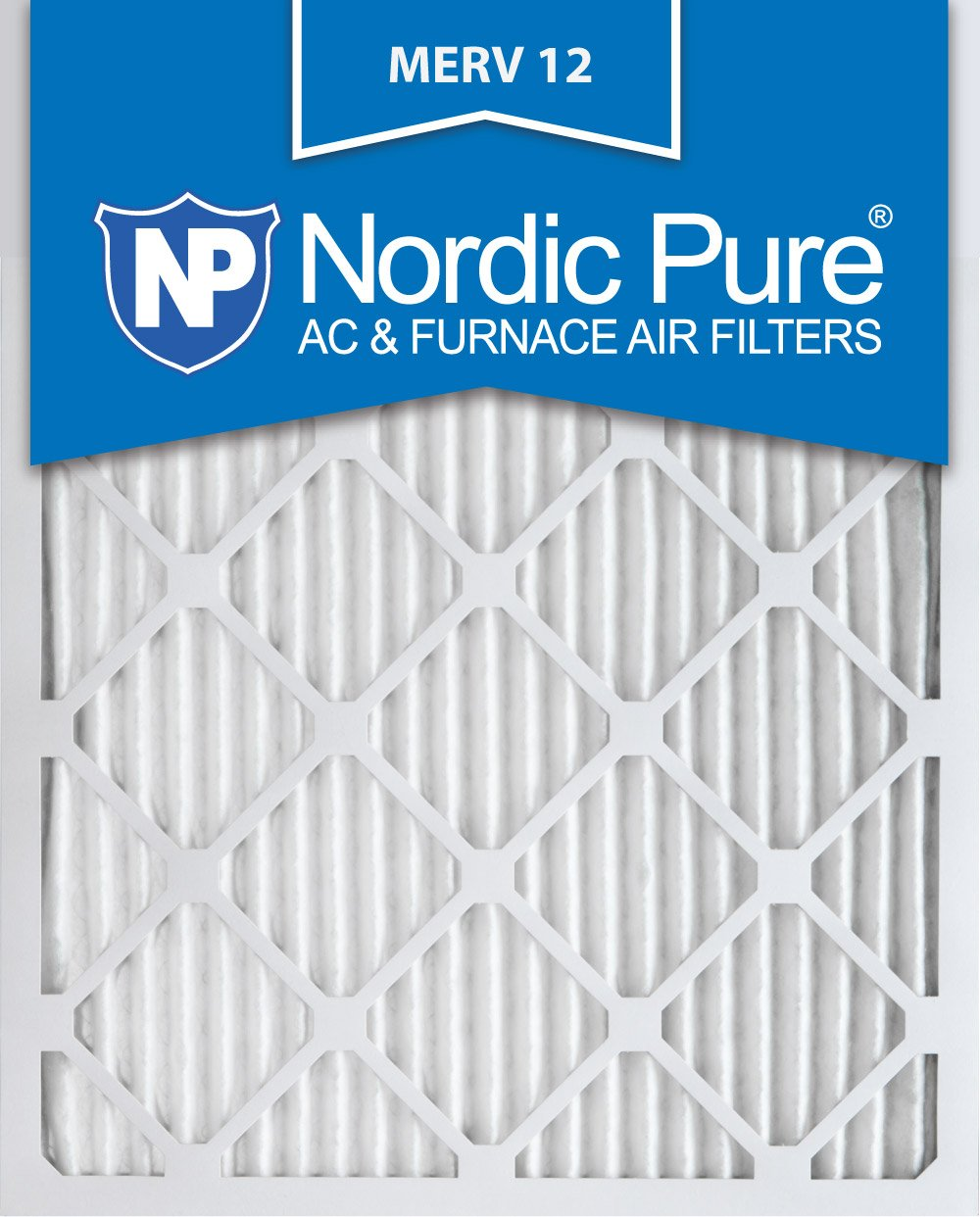 Nordic Pure 16x20x1M12-6 MERV 12 Pleated Air Condition Furnace Filter, Box of 6