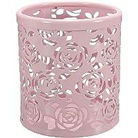 Demarkt Ciselé Pot à Crayons en Métal avec Style de Roses Rangements Pour Produits Cosmetiques/Boite De Maquillage/Organisateur Multi-Cosmetiques ❤☆️