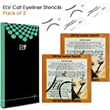 ELV Cat Smokey Eyes Makeup Eyeliner Stencils Repeatable Reusable DIY Eye Makeup Card Template Tools Kit (4 Pieces))