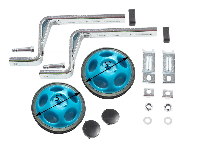 MOSHAY Noctilucent Training Wheels for 14 16 18 20Inch (Blue) by MOSHA (Image #2)
