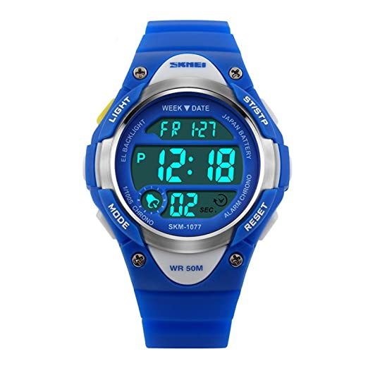 Gryiyi - Reloj deportivo digital con LED, resistente al agua hasta 50 m, ideal