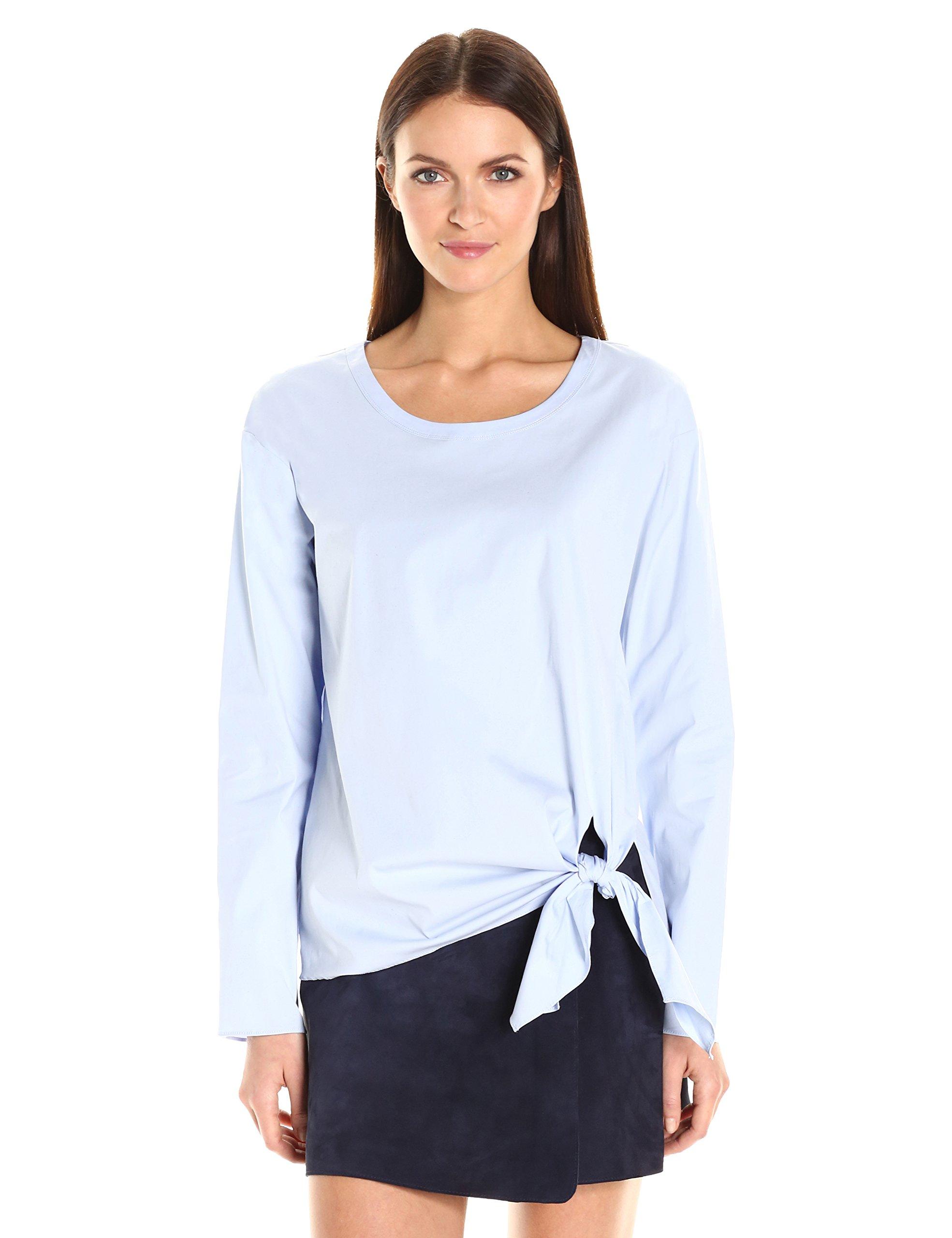Theory Women's Serah Stretch Cotton Top, Larkspur, M