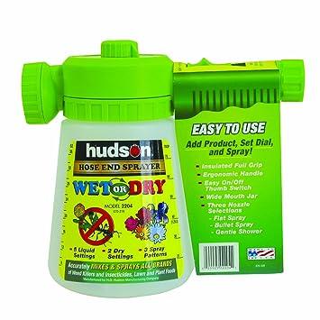 Hudson 2204 Hose End 36 Oz Wet Dry Sprayer Amazon Co Uk Garden