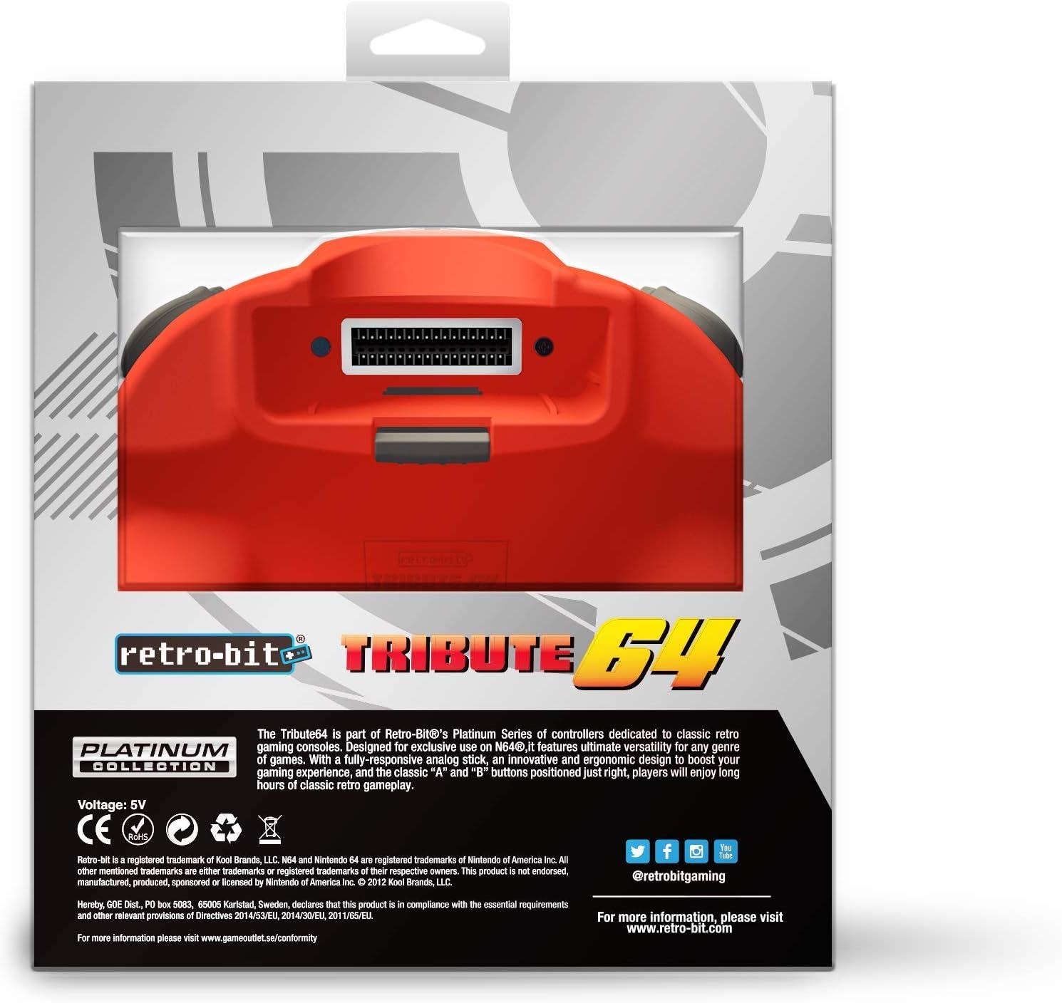 Retro-Bit Tribute 64 for Nintendo 64 - Red [Importación inglesa ...
