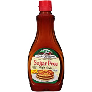 Maple Grove Farms, Syrup, Sugar Free, Maple Flavor, 12 Ounce (Pack of 12)