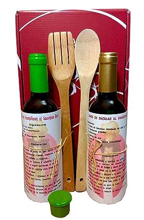 Kit de Cocina con Vino Blanco, Chardonnay 37,5 cl. y Sauvignon Blanc
