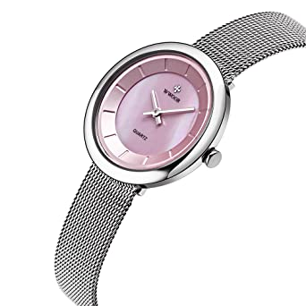 WWOOR women Watches Quartz-watch coupons for Ladies Watch Women Classic Retro Stainless Straps 014