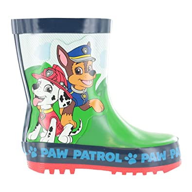 c6b4dcc8b4b Boys Paw Patrol Green   Blue Wellies Wellington Rain Boots Size UK Child 4