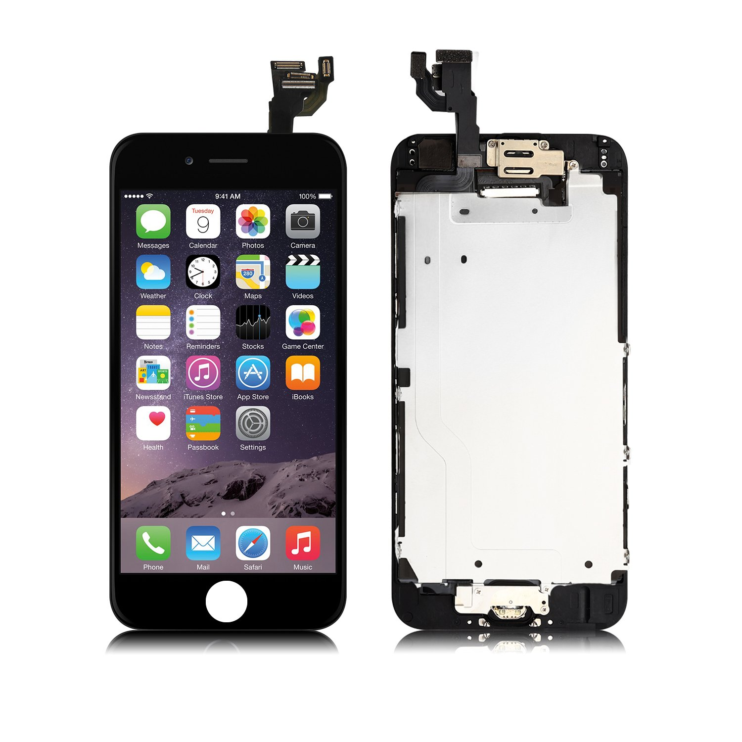 the best attitude cdae7 7eede Full Assembly for iPhone 6 Plus Screen Replacement LCD Touch Digitizer  Display with Front Camera,Ear Speaker,Facing Proximity Sensor,Repair ...