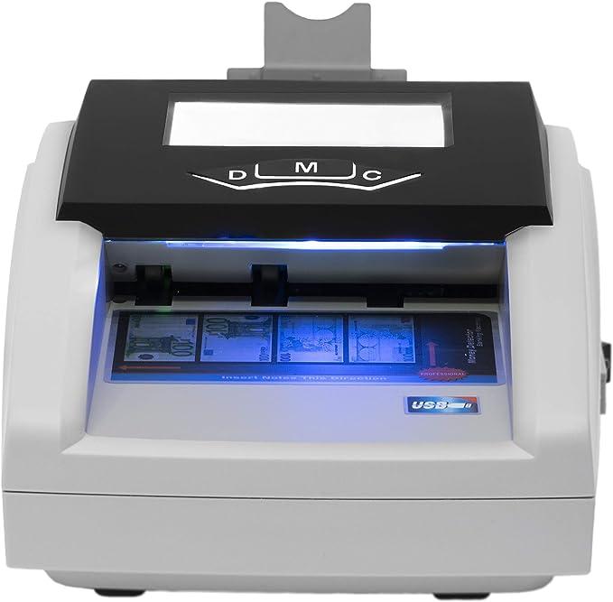 JeVx Maquina Detector de Billetes Falsos Portatil 2 en 1 CON BATERIA RECARGABLE y Fuente de Alimentacion - Profesional Contadora comercial de Dinero 5 Sistemas de Deteccion Contador Seguridad Euros: Amazon.es: Oficina y papelería