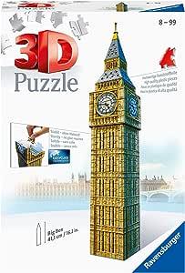 Ravensburger- Big Ben 3D Puzzle, 216pc, Color marrón