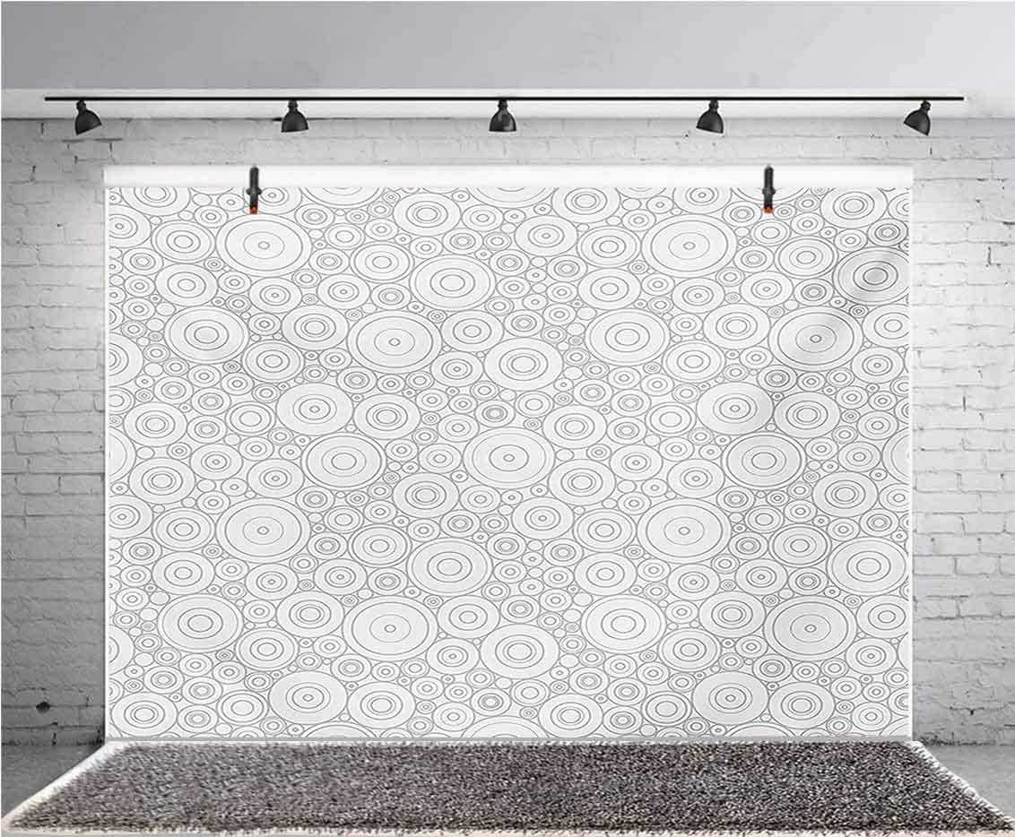 Floral 10x8 FT Vinyl Photography Backdrop,Retro Blooming Graphic Spring Flowers on Curvy Branches Botanical Garden Theme Background for Baby Birthday Party Wedding Studio Props Photography