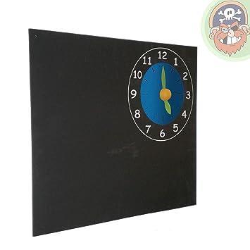 Kreidetafel Wandtafel Mit Uhr Als Lern Spielzeug Für Kinder Von Gartenpirat®