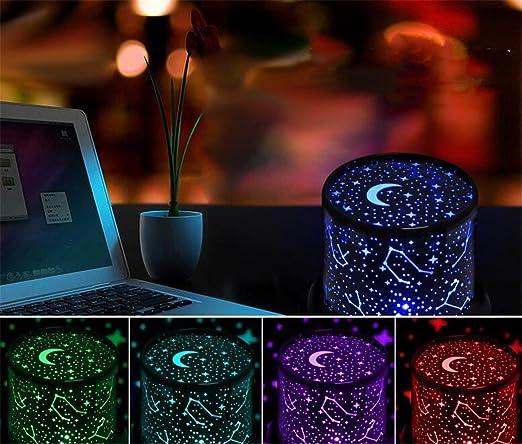 SIRIUS HEART Sky Projector Colorful LED Stars Sky Romantic, 12 ...