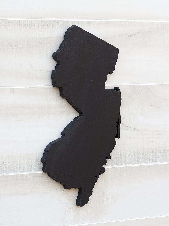 Amazon Com New Jersey State Map Chalkboard Message Board