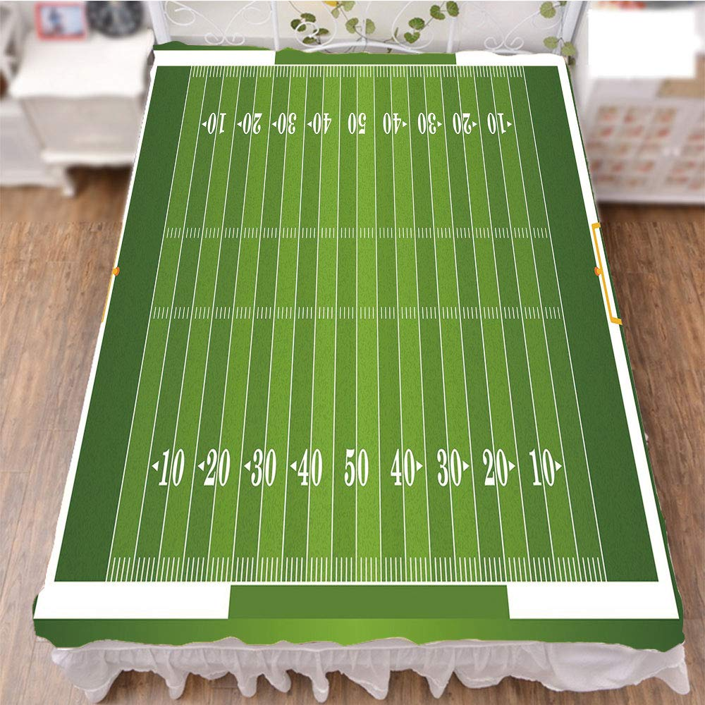 iPrint Bed Skirt Dust Ruffle Bed Wrap 3D Print,Gridiron Yard Competitive Games College Teamwork,Fashion Personality Customization adds Color to Your Bedroom. by 70.9''x78.7''