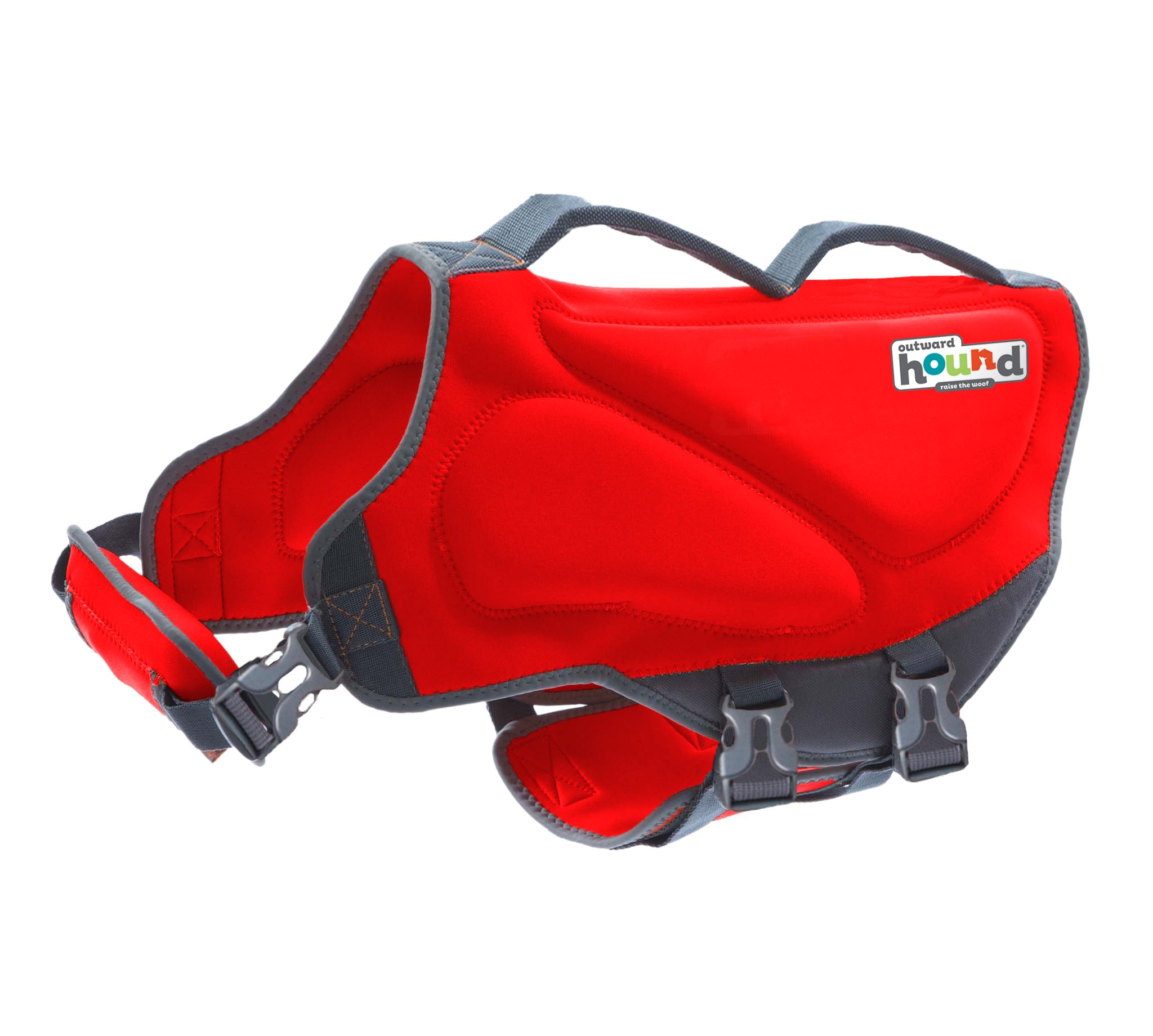 Outward Hound Dawson Swim Novice Swimmer Life Jacket for Dogs Red LARGE