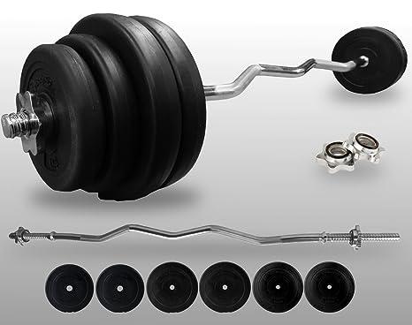 Barbell Curl Bodyrip Ez Peso 40 kg 2,54 cm estándar juego vinilo barra de